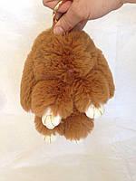 Меховый брелок - кролик Рекс (коричневый), фото 1