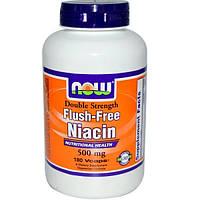 Now Foods, Ниацин, без покраснений, двойная сила, 500 мг, 180 капсул