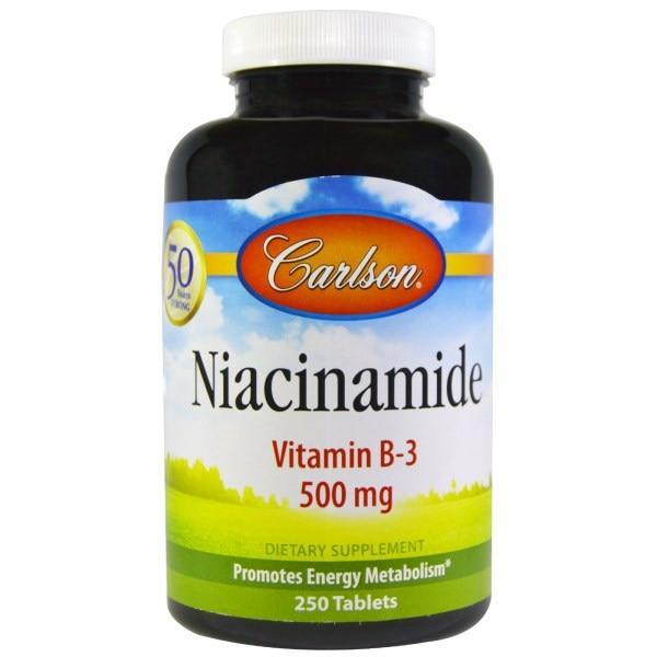 Carlson Labs, Ниацинамид, 500 мг, 250 таблеток