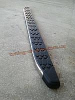 Боковые площадки из алюминия BlackLine для AUDI Q5 2012