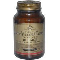 Витамин В12 (метилкобаламин) Solgar Sublingual Methylcobalamin (Vitamin B 12) 1000 мкг, 60 капсул