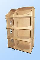 Домик деревянный кукольный для  детского творчества -шкаф для творчества
