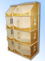 Домик деревянный кукольный для  детского творчества-шкафа тонированный.