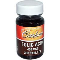 Carlson Labs, Фолиевая кислота, 400 мкг, 300 таблеток