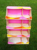 Домик деревянный кукольный для творчества-шкаф з розписью(Радужный) для девочек