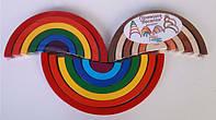 Деревянная игрушка Пирамидка для развития «радуга» цветная №2