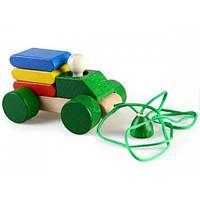 Детская  деревянная игрушка Каталка-конструктор Грузовик в ассортименте РУДI