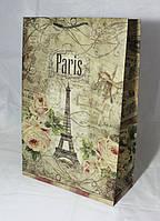 Подарочный пакет (крафт с рисунком  гигант вертикальный)