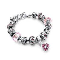 Браслет женский 6331 Пандора Pandora с шармами
