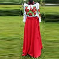 Заготовка женского костюма для вышивки МАКИ, фото 1