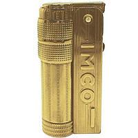 Зажигалка бензиновая  Imco Super Triplex Oil Brass Gold Logo Зажигалка Imco