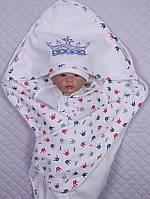"""Набор """"Мой Принц"""" - 5 предметов, молочный, красно-синие короны, фото 1"""