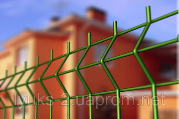 Установить забор из сварной сетки в ПВХ