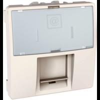 SСHNEIDER ELECTRIC UNICA Розетка компьютерная с полем для надписи неэкр.UTP кат. 5е 2 модуля Слоновая кость