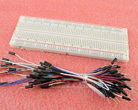 Макетная плата контактная схемы электрические без пайки + 65 соединительных проводов