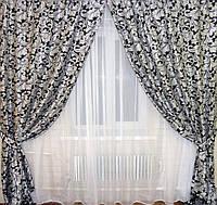 Богатые шторы для зала