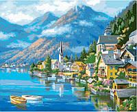 Картины по номерам / коробка. Городской пейзаж. Австрийский пейзаж. 40х50 арт. КН2143