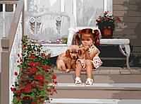 Картины по номерам. Дети. В ожидании мамы 40х50 арт. КНО1024