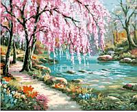 Картины по номерам / коробка. Пейзаж. Волшебный сад 40х50 арт. КН2811
