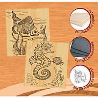 Набор для выжигания по дереву № 2 (рыба и морской конёк) арт. 96228