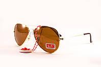 Cолнцезащитные очки Ray Ban Aviator поляризованные коричневые оправа