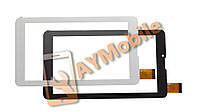 """Тачскрин для планшета (сенсор) 7"""" Assistant AP-725G 30 pins 184x104 mm скотч черный и белый"""