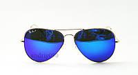 Cолнцезащитные очки Ray Ban Aviator поляризованные синие
