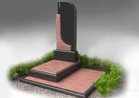"""Гранитный вертикальный памятник с надгробкой """"Время"""""""