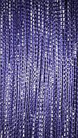 Занавески из нитей и стекляруса синие