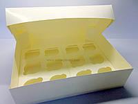 """Картонная коробка для капкейков на 12 шт """" Белая"""""""
