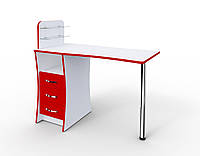 """Маникюрный стол c стеклянными полочками под лак """"Элегант"""""""