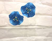 Серьги цветочки в цветах