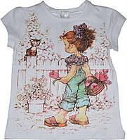Футболка Девочка с корзинкой детская для девочки