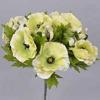 Букет Салатовых маков  40см Цветы искусственные