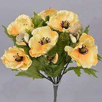 Букет Светло-желтых маков  40см Цветы искусственные