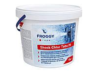 """Быстрорастворимый хлор """"Shock Chlor Tabs 20"""", Froggy (4 кг) химия для бассейнов"""