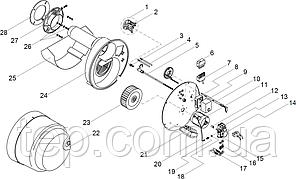 Giersch R30 Підпірний диск з утримувачем і подвійними електродами