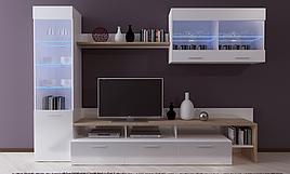 Стенка в гостиную Kalysto (LED в комплекте - голубой цвет)