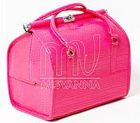 Саквояж, чемодан, сумка мастера,  кейс для визажа, розовый лак