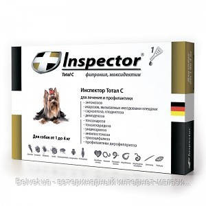 INSPECTOR ( ИНСПЕКТОР ) ошейник от блох и клещей для мелких собак длина 40 см
