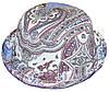 Шляпа детская котелок огурцы голубые