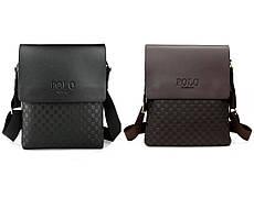 Качественная мужская кожаная сумка Polo Videng New 2 цвета