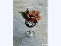 Гобелен 1133-8н Роза в бокале 17х24