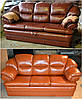 Обивка мягкой мебели кожей
