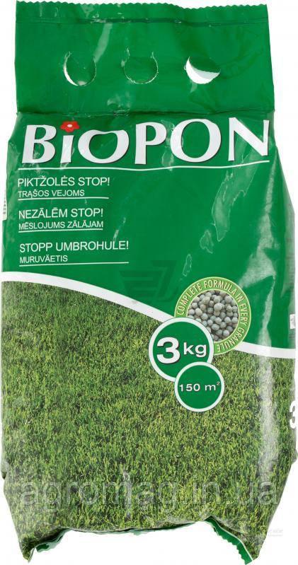BIOPON для газона против сорняков 3кг