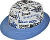 Шляпа детская челентанка комби 86 голубой