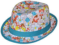 Шляпа детская челентанка комби ирис+морская волна