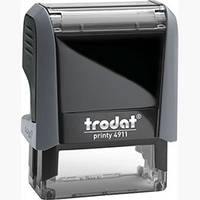 Самонаборный текстовый штамп Trodat 3 строчный+касса знаков 4911N/3/U