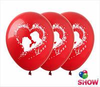 """Латексные воздушные шары с рисунком """"Влюбленные"""", диаметр 12 дюймов (30 см.), печать шелкография 5 сторон, 50"""