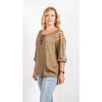 Женская блуза хлопок Цвет:Капучино